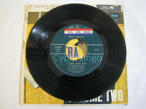 This Is Sinatra Volume Two Time After Time Crazy Love 45 rpm Record 1958 Vintage