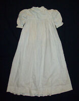 Old Antique Vtg ca 1880s Toddler Little Girls Dress Gown Beautiful Great Cond