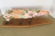 Vintage Antique Folding Wood Sleeve 2 Sided Table Top Ironing Board