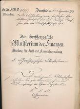 DARMSTADT  Das Großherzogliche  Ministerium  der  Finanzen Forst Verwaltung (535