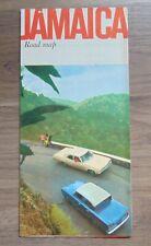 Vintage 1966 Jamaica Road Map