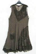 NEU SARAH SANTOS Strickkleid Kleid Robe Dress M 40 42 Lagenlook Wolle