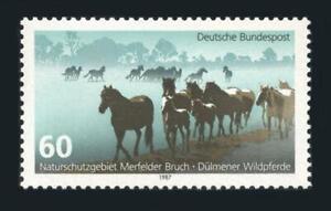Germany: 1987 Dulmen's Wild Horses (1512) MNH