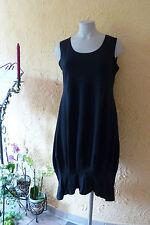 BORIS INDUSTRIES Ballon Kleid Falten Gr. 46 (4) NEU! schwarz Volant LAGENLOOK