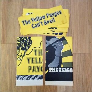 Vintage 1960's THE YELLOW PAYGES Psychedelic Garage Rock Poster Lot