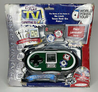 PLUG & PLAY World Poker Tour NO LIMIT TEXAS HOLD 'EM JAKKS PACIFIC TV GAME- New