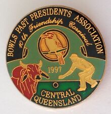 Central Queensland 1997 Past Presidents Bowling Carnival Club Badge Pin (M12)