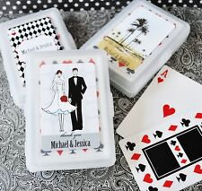 50 Personalized Playing CARDS Wedding Favor Damask Beach Cherry Blossom Fall