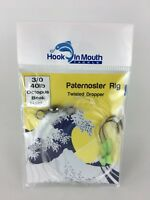 5 Twisted Paternoster Rigs 40lb 3/0 Octopus Beak Hooks Pre-tied Surf Fishing