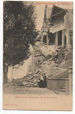 1906 San Francisco Earthquake Postcard Destruction of St Luke's Church