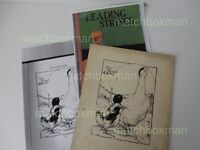 ORIGINAL PEN AND INK ILLUSTRATION THE PROUD GOOSE LEADING STRINGS EARLY (20TH