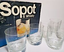 6 Vintage Krosno Whisky Glasses - Sopot 6 Whisky Glasses - Vintage Whisky Glass