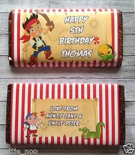 PERSONALISED Jake Pirate CHOCOLATE BAR WRAPPER fits Galaxy 114g Birthday Gift