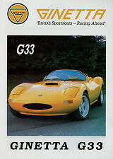 Prospekt D Ginetta G33 G4 G12 G32i 1992 brochure Autoprospekt Broschüre Auto PKW