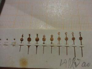Konvolut antike Sekunden-Zeiger für Taschenuhren Uhr Uhrmachernachlass Uhrmacher
