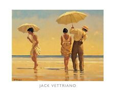 MAD DOGS ART PRINT JACK VETTRIANO romantic couple beach umbrella love poster
