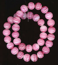 48 Vintage Glass Beads From Japan Rose Pale Pink Opal Swirl 7mm #294