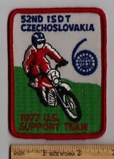 1977 ISDT CZECHOSLOVAKIA US SUPPORT TEAM PATCH Vintage Enduro Motorcycle ISDE