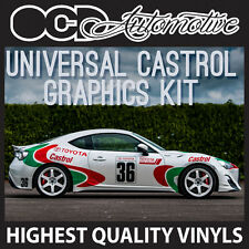 TOYOTA CASTROL RACE RALLY GRAPHICS DECALS STICKER KIT CELICA GT86 SUPRA GLANZA