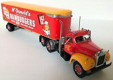 NEW Matchbox Diecast 1955 McDONALD's Tractor Trailer + COA DYM34577 1:50 Scale