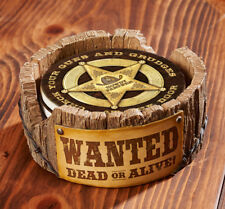 Wanted Dead or Alive Coaster Holder Cowboy Western Home Decor Great Gift Idea