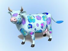 METAL MAGNET Blue Cow Flowers Pink Purple Cows Humor MAGNET