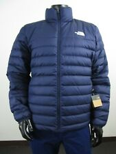 Mens TNF The North Face Flare 550-Down Insulated FZ Puffer Jacket - Navy Blue