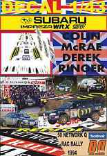 DECAL 1/43 SUBARU IMPREZA 555 C.MCRAE RAC 1994 WINNER (01)