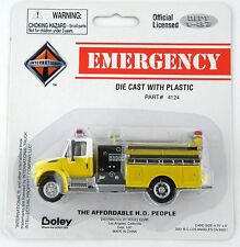 HO Scale International 4300 Pumper Fire Truck - Yellow & White - Boley #4124-78