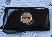 New release MIMCO MIM black rose gold zip wallet