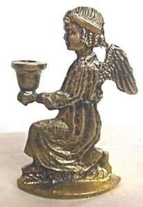 """Vintage Brass Angel Kneeling Candle Holder 3"""""""