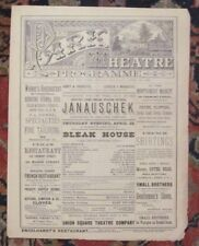 *CHARLES DICKENS PLAY RARE LARGE 1881 13 x 10 INCH BLEAK HOUSE PROGRAM*