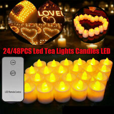 10/20PCS LED Tea Lights Candles with Remote Control Battery Operated Warm White