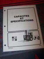 CW Manuel Hyster Capacites et specifications H17.00-32.00C