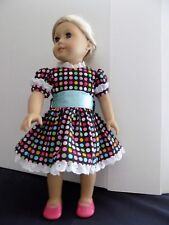 "Hand made American girl 18"" doll ,colorful dress"
