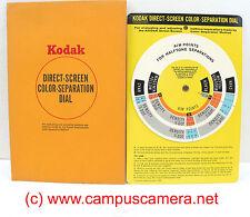 Kodak Direct Screen Color Separation Dial  Evaluating Halftone Separations Q-10A