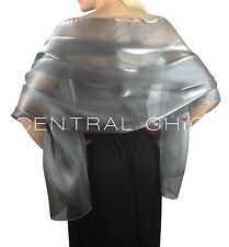 Central Chic Silky Iridescent Wrap Stole Shawl Weddings Bridal Bridemaids Balls