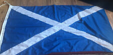 More details for vintage  scotland scottish stitched linen / cotton flag rope and toggles. boat