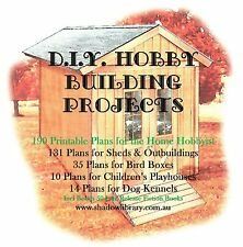 DIY -  Home Hobby Building Projects - 190 Printable Plans + 50 Bonus Titles