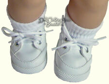 "White Gym Shoes Top Quality made for 15"" American Girl Bitty Baby Doll Clothes"