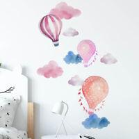 Hot Air Balloon Cloud Wall Sticker Removable Kids Rooms Mural Decal Decor Novel