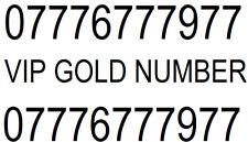UNIQUE BUSINESS RARE GOLD VIP MOBILE PHONE NUMBER 0777 DIAMOND PLATINUM SIM CARD