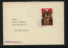Switzerland  large soldier stamp on cover  feldpost           KEL1025