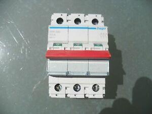 Hager SBR390 100A Triple Pole Main Switch Incomer Isolator