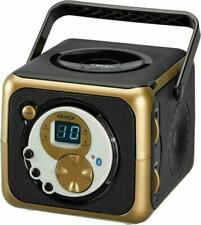 JENSEN CD-555 Portable Bluetooth Music System with CD Player Gold