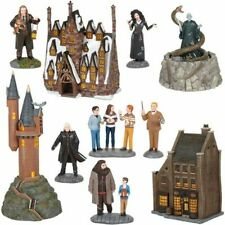Dept 56 Harry Potter Village Set Of 9 New 2020 Broomsticks, Owlery, Borgin Etc.