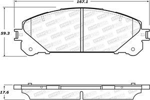 StopTech For Toyota Highlander, Lexus RX350 Disc Brake Pad Set Front - 308.13240