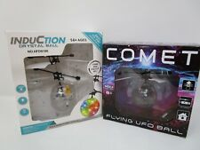 x2 Flying UFO Ball LED Mini Induction Suspension RC Aircraft Flying Toy Ball