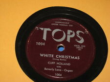 """78 RPM RECORD -CLIFF HOLLAND """"WHITE CHRISTMAS AND SILENT NIGHT"""""""