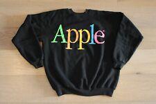 Vintage 80s Apple Computers Rainbow Logo Black Sweater Size XL VTG California